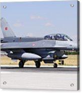 A Turkish Air Force F-16d Block50+ Acrylic Print
