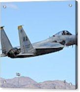 A U.s. Air Force F-15c Eagle Taking Acrylic Print