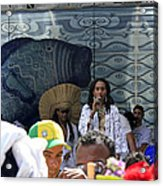 A View Of Some Of The Singers At The 2009 Cleansing Of 46th Street Acrylic Print