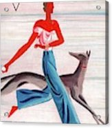 A Vintage Vogue Magazine Cover Of An African Acrylic Print