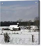 A Wintery View Of A Farm On Goode Street Acrylic Print