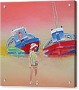 Abandoned Fishing Boats Tavira Acrylic Print