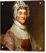 Abigail Smith Adams By Gilbert Stuart Acrylic Print