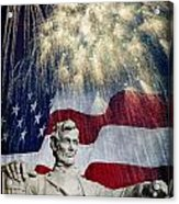 Abraham Lincoln Fireworks Acrylic Print