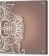 Abstract Background Lacy Frame Border Pattern Wedding Invitation Card Design Acrylic Print