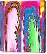 Abstract Emotional Stages  Confusion Disbelief Grief Anger Walkaway Acrylic Print