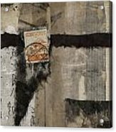 Abstract Japanese Collage Acrylic Print