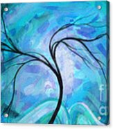 Abstract Landscape Painting Digital Texture Art By Megan Duncanson Acrylic Print