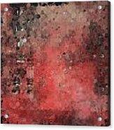 Abstract Red Digital Print Acrylic Print