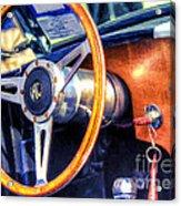Ac Shelby Cobra Oil Painting Acrylic Print