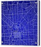 Adelaide Street Map - Adelaide Australia Road Map Art On Colored Acrylic Print