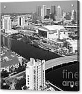 Aerial Of Downtown Tampa And Harbour Island Acrylic Print