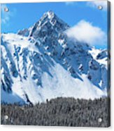 Aerial Of Mount Sneffels With Snow Acrylic Print