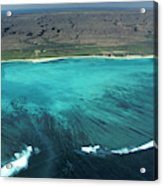 Aerial Of Ningaloo Reef And Cape Range Acrylic Print