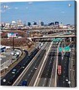 Aerial Over Newark Acrylic Print