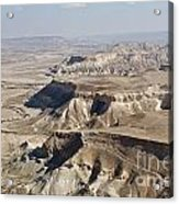 1-aerial Photography Of The Negev  Acrylic Print
