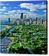 Aerial View Of Chicago, Illinois Acrylic Print