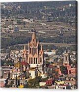 Aerial View Of San Miguel De Allende Acrylic Print