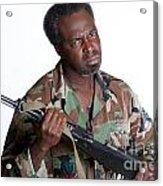 African American Man With Gun Acrylic Print