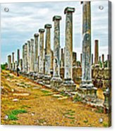 Agora In Perge Where Apostle Paul Preached His First Sermon-turkey  Acrylic Print