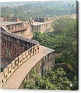 Agra Fort Tourist Destination In India Acrylic Print