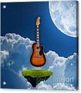 Air Guitar Acrylic Print
