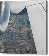 Airplane Wing And Turbine Acrylic Print