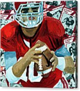 Alabama Quarter Back #10 Acrylic Print by Michael Lee
