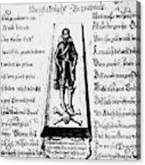 Albrecht Von Wallenstein (1583-1634) Acrylic Print