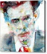 Aldous Huxley - Watercolor Portrait Acrylic Print