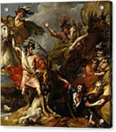 Alexander IIi Of Scotland Rescued From The Fury Of A Stag By The Intrepidity Of Colin Fitzgerald  Acrylic Print