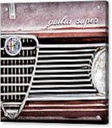 Alfa-romeo Guilia Super Grille Emblem Acrylic Print