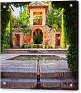 Alhambra In Granada Acrylic Print