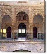Alhambra Palace Patio Del Cuarto Dorado Acrylic Print