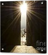 Alley With Sunbeam Acrylic Print