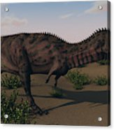 Alluring Majungasaurus In Swamp Acrylic Print
