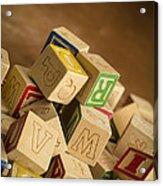 Alphabet Blocks Acrylic Print