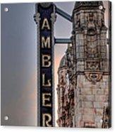 Ambler Theater - Ambler Pa Acrylic Print