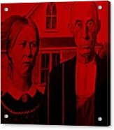 American Gothic In Red Acrylic Print