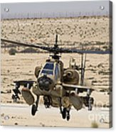 An Ah-64a Peten Attack Helicopter Acrylic Print