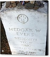 Medgar Evers -- An Assassinated Veteran Acrylic Print
