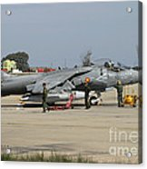 An Av-8b Harrier II Of The Spanish Navy Acrylic Print