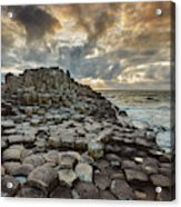 An Evening View Of The Giants Causeway Acrylic Print