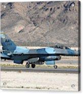 An F-16c Aggressor Jet Landing Acrylic Print