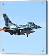 An F-16c Fighting Falcon From 64th Acrylic Print