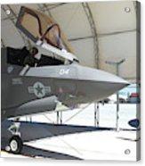 An F-35b Lightning II During Preflight Acrylic Print