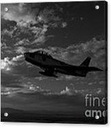An F-86f Sabre In Flight Near Glendale Acrylic Print