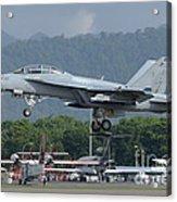 An Fa-18 Super Hornet Of The U.s. Navy Acrylic Print