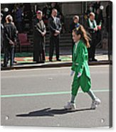 An Irish Lassie Marching In The 2009 St. Patrick Day Parade Acrylic Print