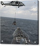 An Mh-60s Sea Hawk Helicopter Delivers Acrylic Print